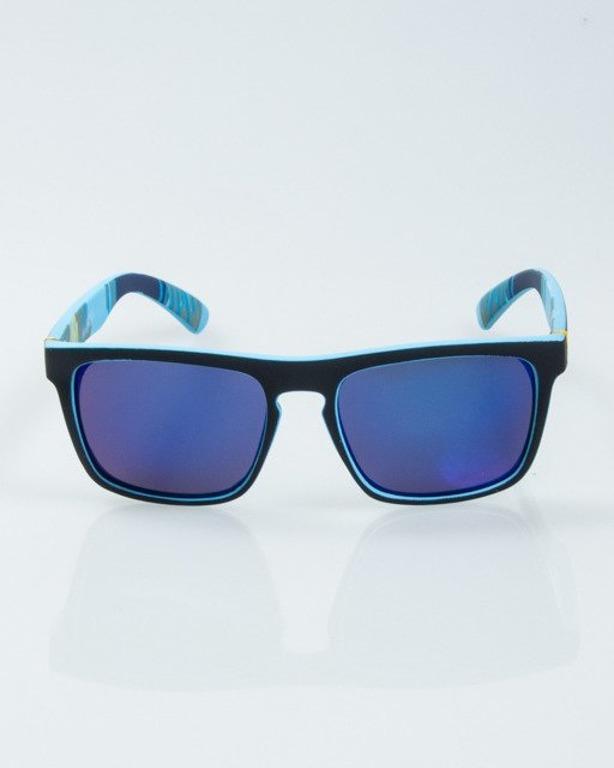 OKULARY COMIX BLACK-BLUE RUBBER BLUE MIRROR POLARIZED 1021