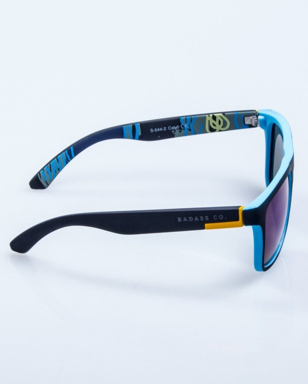 OKULARY COMIX BLACK-BLUE RUBBER BLUE MIRROR POLARIZED 532