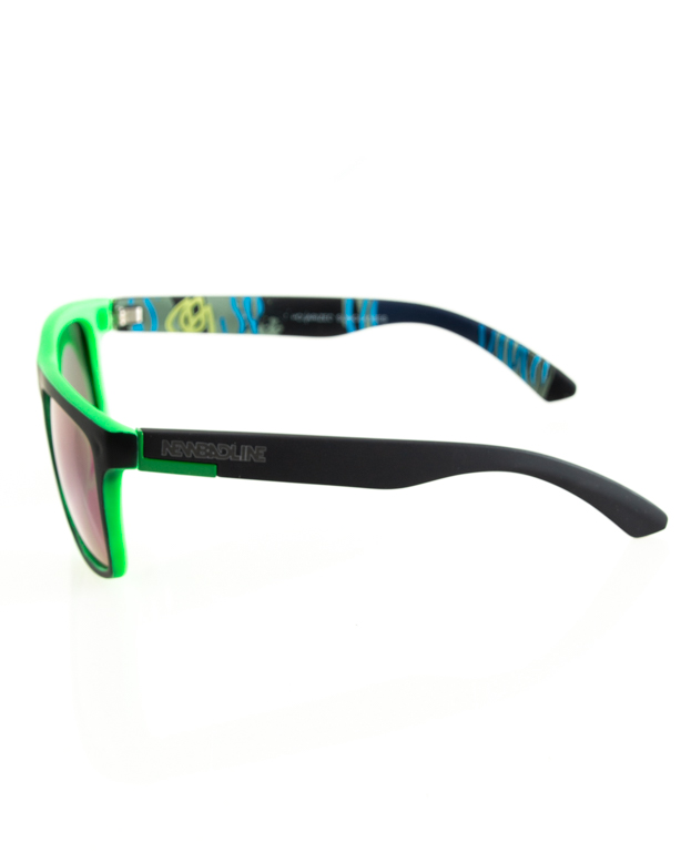 OKULARY COMIX POLARIZED BLACK-GREEN RUBBER BLUE 122