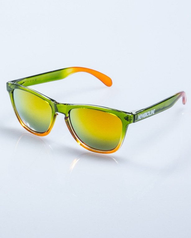 OKULARY CRYSTAL CLEAR GREEN RED MIRROR 594