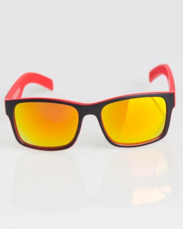 OKULARY CUT BLACK-RED MAT RED MIRROR 1300