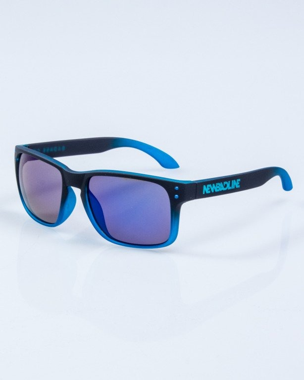OKULARY FREESTYLE BLACK-BLUE RUBBER BLUE MIRROR 649