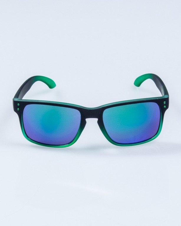 OKULARY FREESTYLE BLACK-GREEN RUBER GREEN MIRROR 651