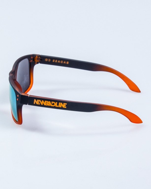 OKULARY FREESTYLE BLACK-ORANGE RUBBER YELLOW MIRROR 654