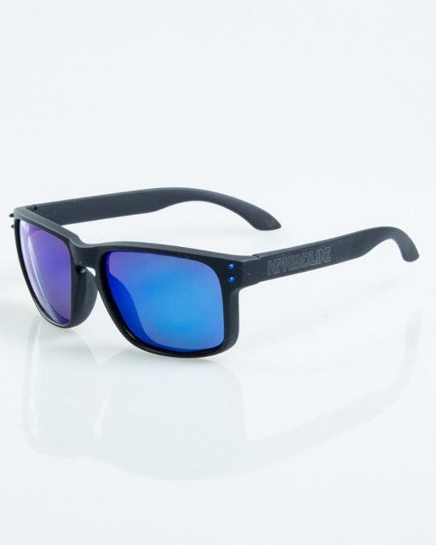OKULARY FREESTYLE BLACK RUBBER BLUE MIRROR POLARIZED 1065