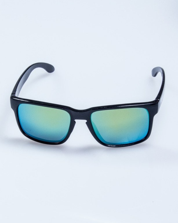 OKULARY FREESTYLE M BLACK FLASH YELLOW MIRROR 628