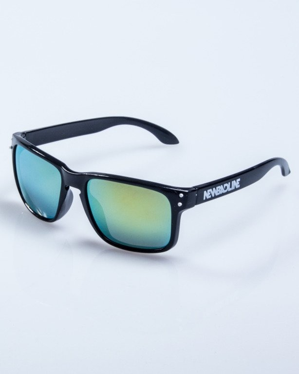 OKULARY FREESTYLE POINT BLACK-WHITE FLASH YELLOW MIRROR 608