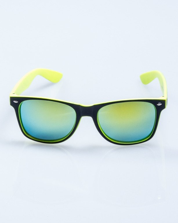 OKULARY INSIDE BLACK-NEON MAT YELLOW MIRROR 507