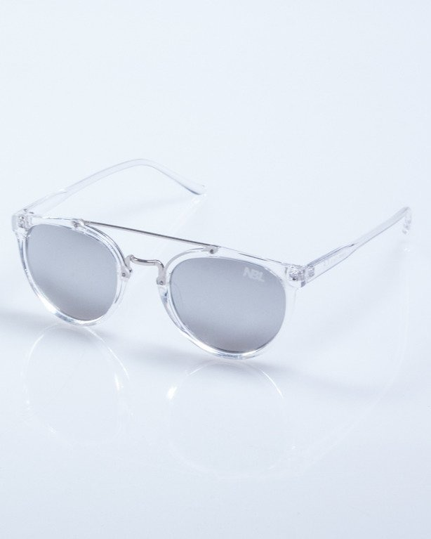 OKULARY LADY OLD SCHOOL CLEAR GREY MIRROR 541