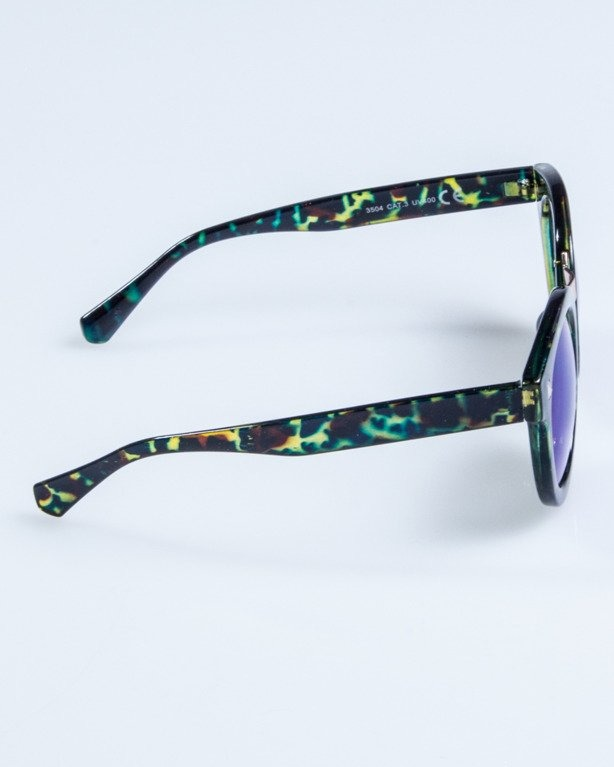 OKULARY LADY XXX FLOWER GREEN FLASH BLUE MIRROR 698