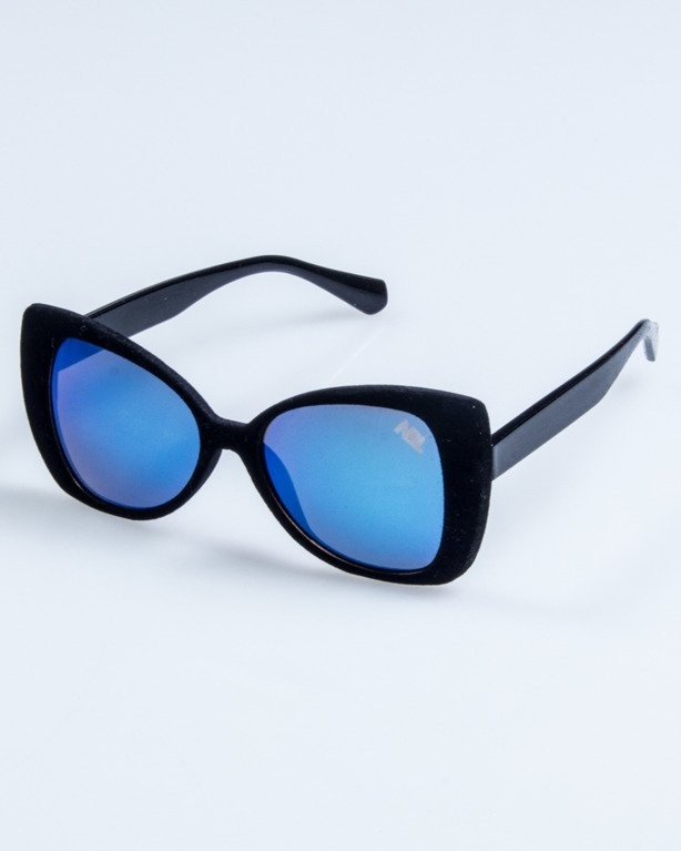 OKULARY LADY ZAMSZ BLACK BLUE MIRROR 739
