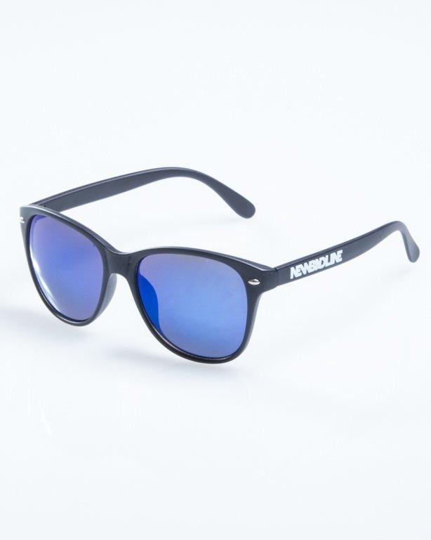 OKULARY LAZY BLACK MAT BLUE MIRROR 775