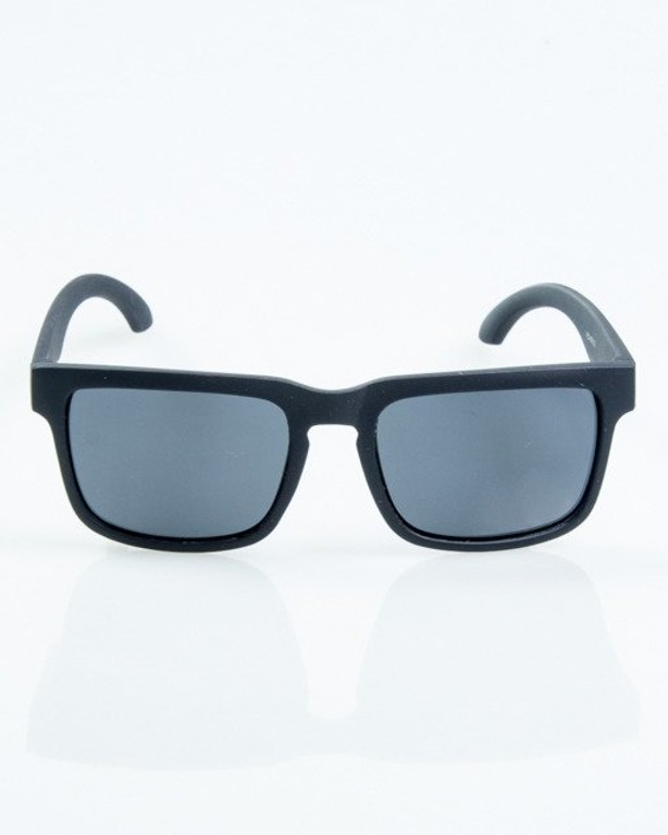 OKULARY MODERN BLACK RUBBER BLACK POLARIZED 1064