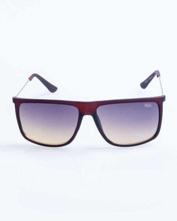 OKULARY NEEDLE BROWN RUBBER BLACK-YELLOW 788