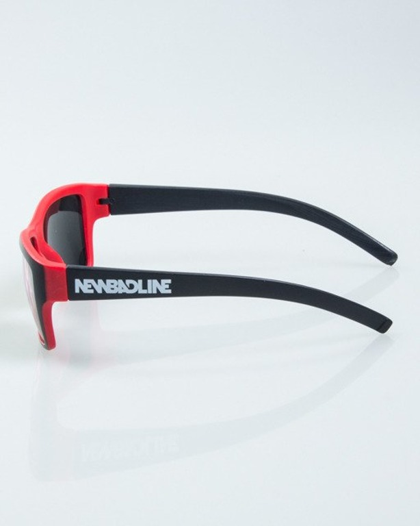 OKULARY SMOOTH BLACK-RED MAT RED MIRROR 1003