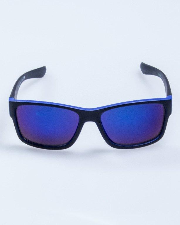 OKULARY SPEED BLACK-BLUE MAT BLUE MIRROR 571