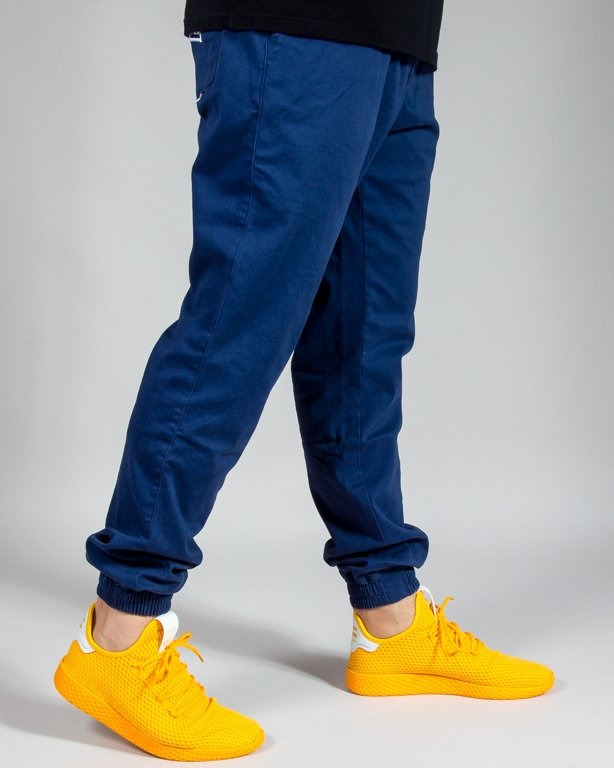 SPODNIE CHINO JOGGER ICON BLUE