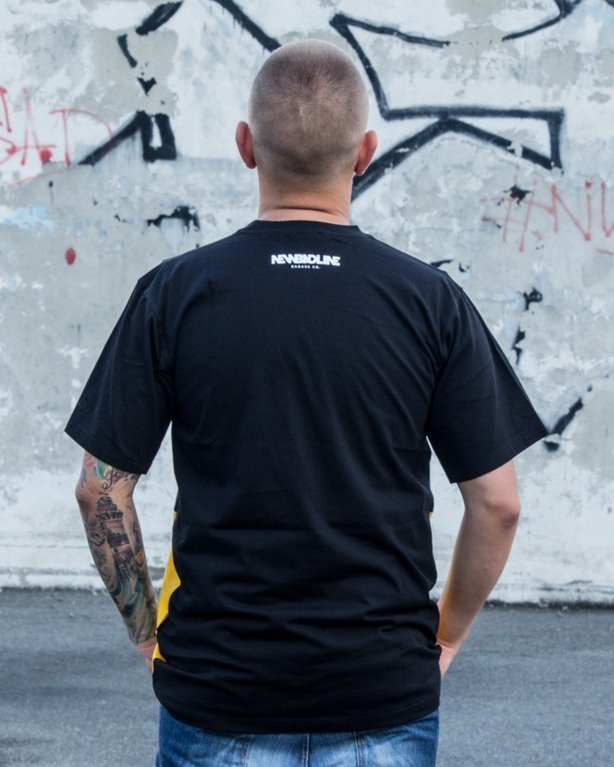 T-SHIRT EASY COME BLACK-YELLOW