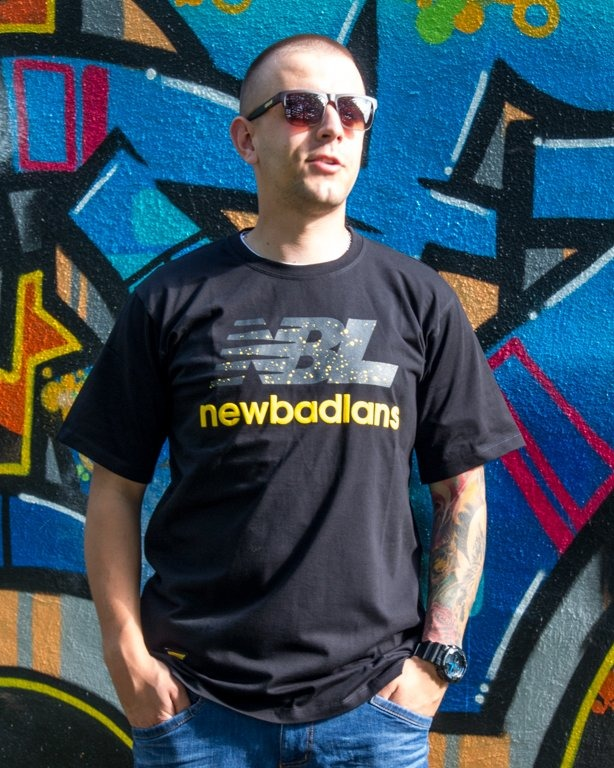 T-SHIRT NEWBADLANS BLACK